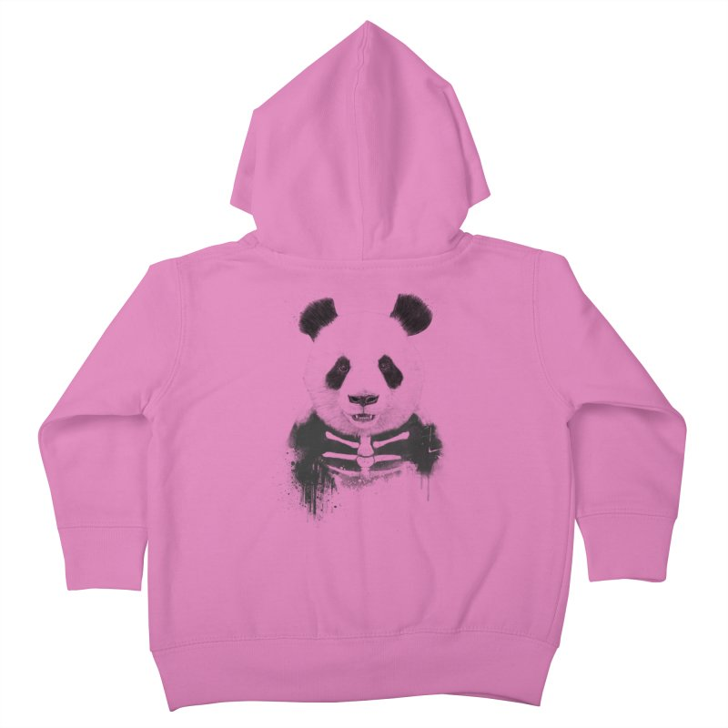 Zombie Panda Kids Toddler Zip-Up Hoody by Balazs Solti