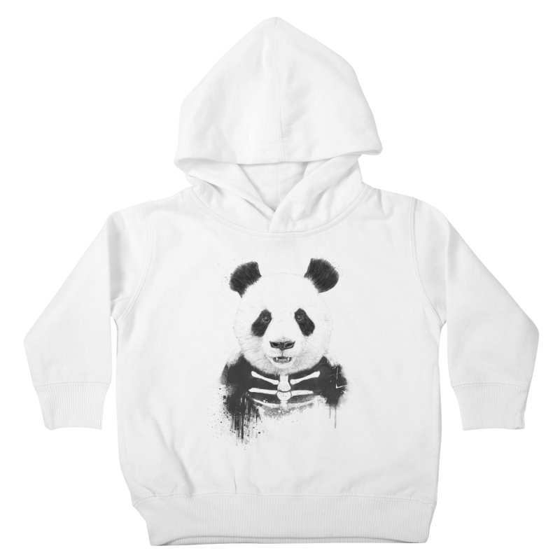 Zombie Panda Kids Toddler Pullover Hoody by Balazs Solti