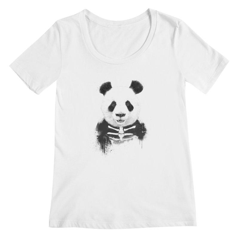 Zombie Panda Women's Scoopneck by Balazs Solti