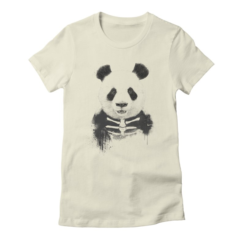 Zombie Panda Women's Fitted T-Shirt by Balazs Solti