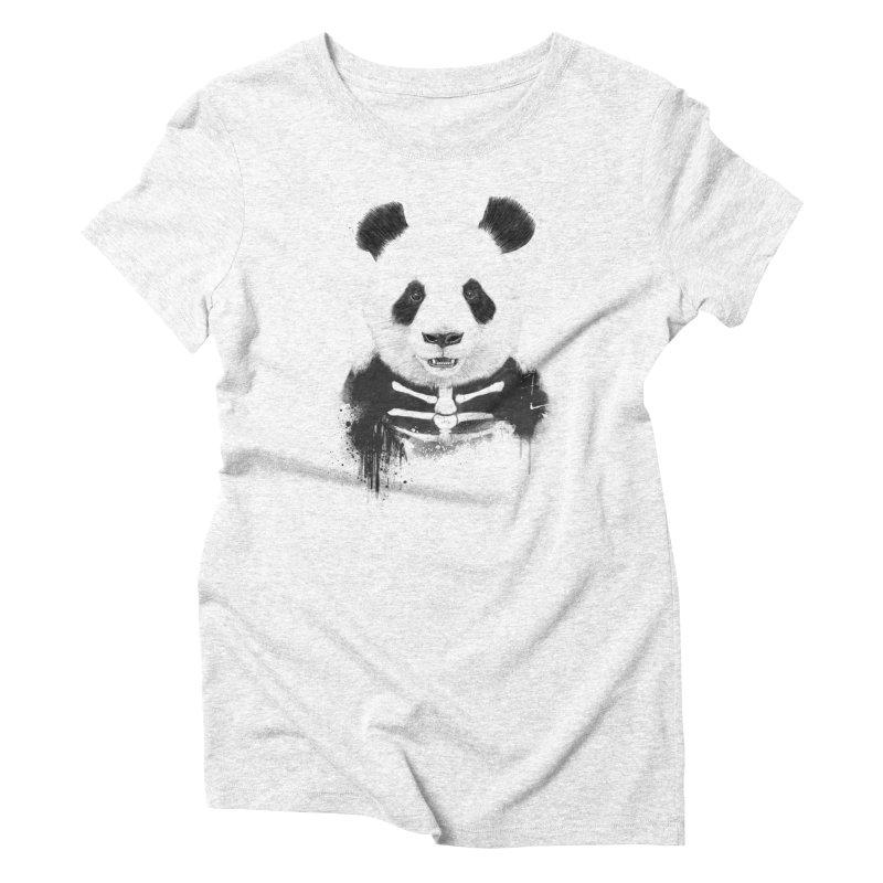 Zombie Panda Women's Triblend T-shirt by Balazs Solti