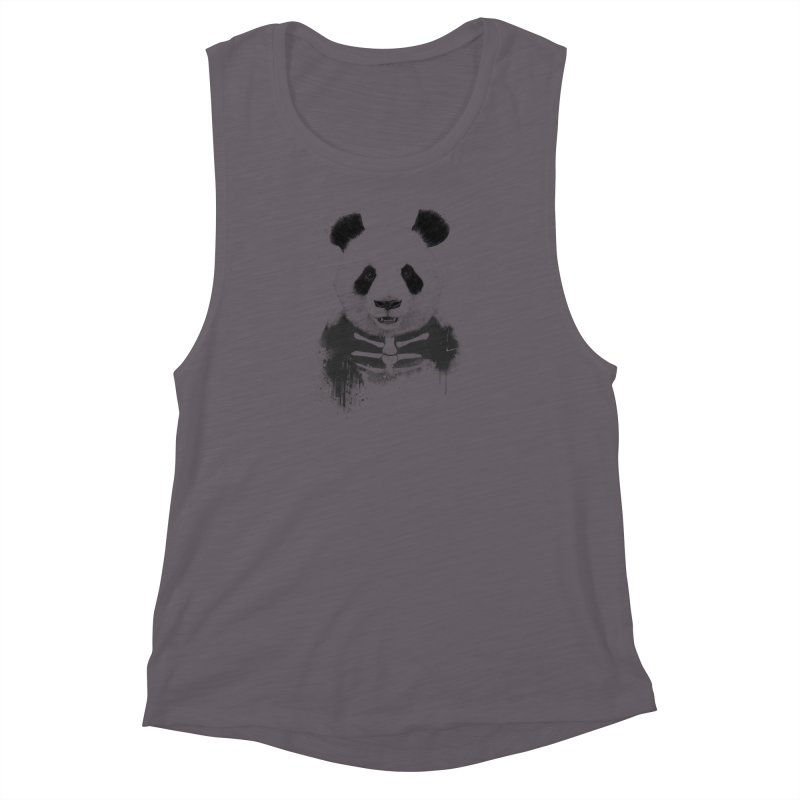 Zombie Panda Women's Muscle Tank by Balazs Solti