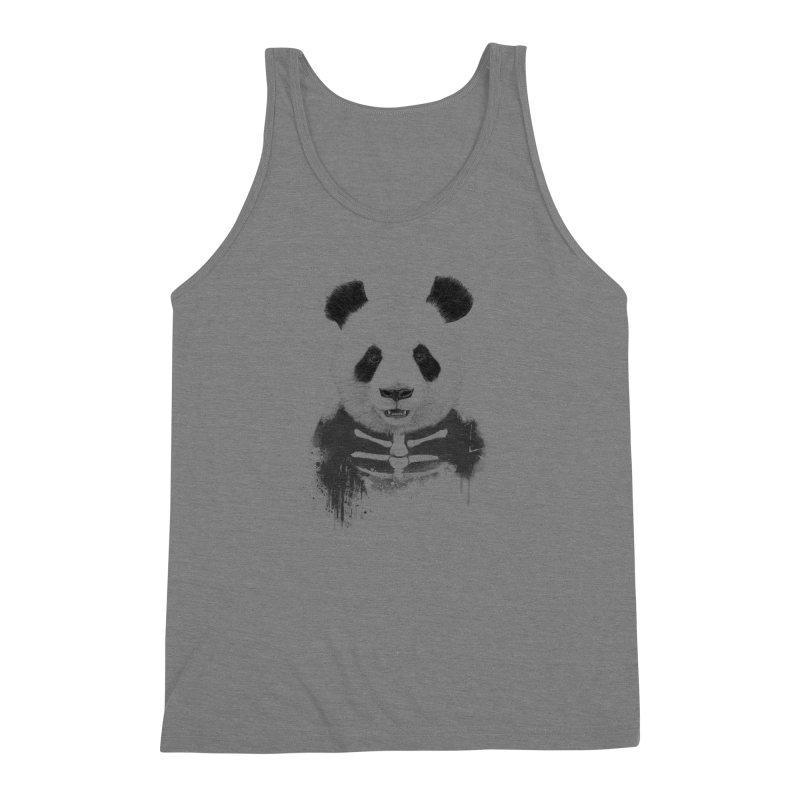 Zombie Panda Men's Triblend Tank by Balazs Solti