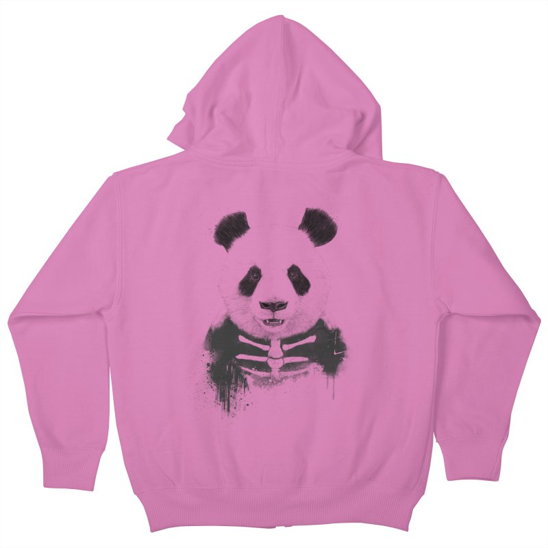 Zombie Panda Kids Zip-Up Hoody by Balazs Solti