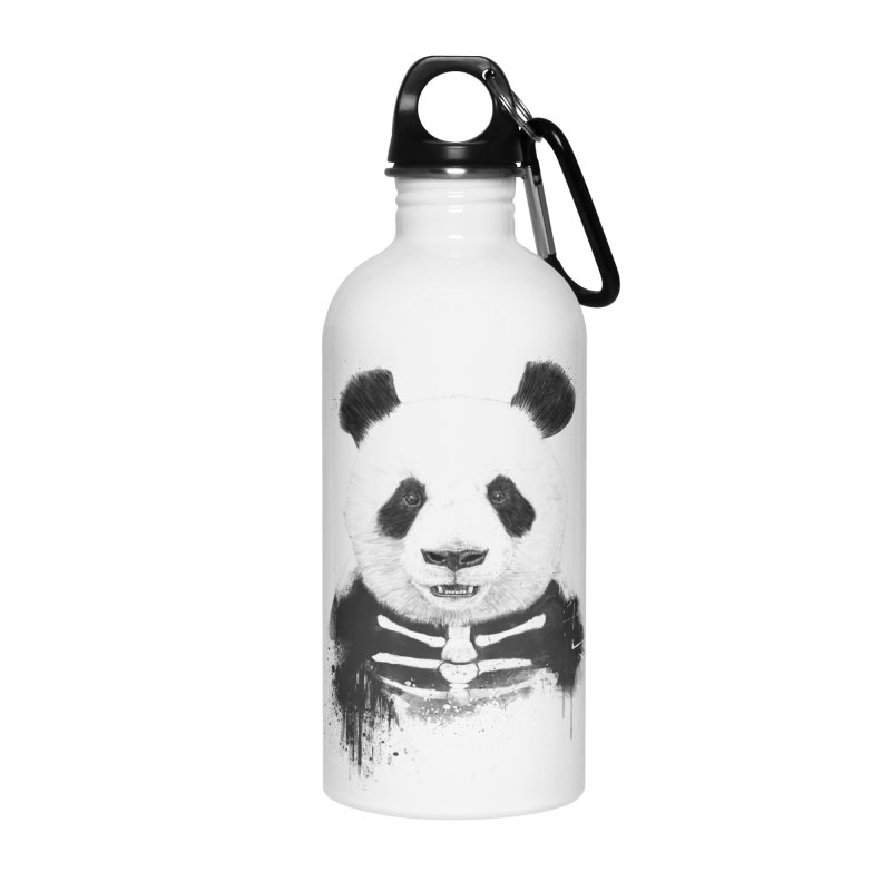 Zombie Panda Accessories Water Bottle by Balazs Solti