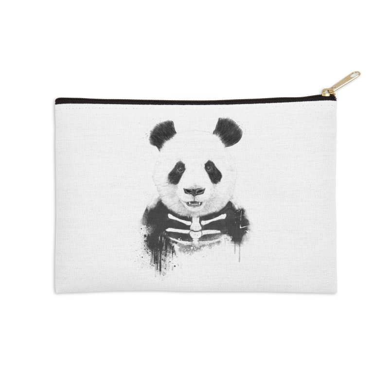 Zombie Panda Accessories Zip Pouch by Balazs Solti