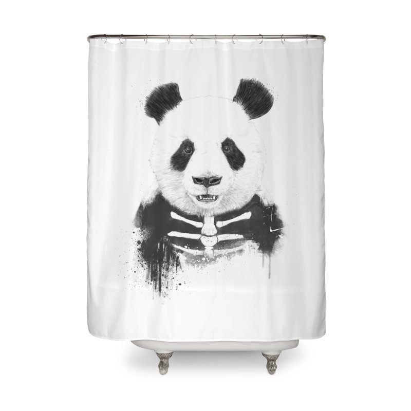 Zombie Panda Home Shower Curtain by Balazs Solti