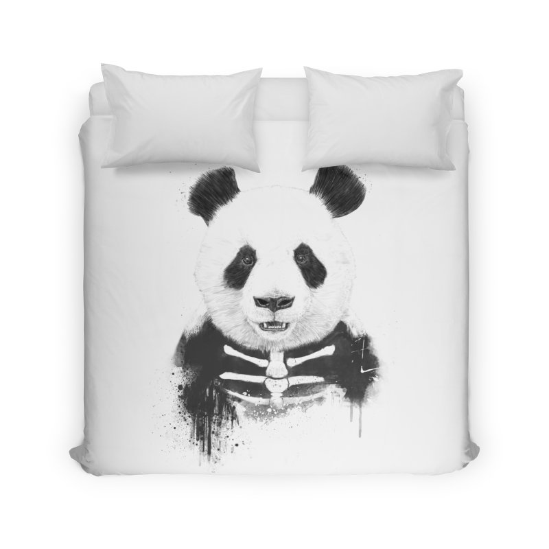 Zombie Panda Home Duvet by Balazs Solti