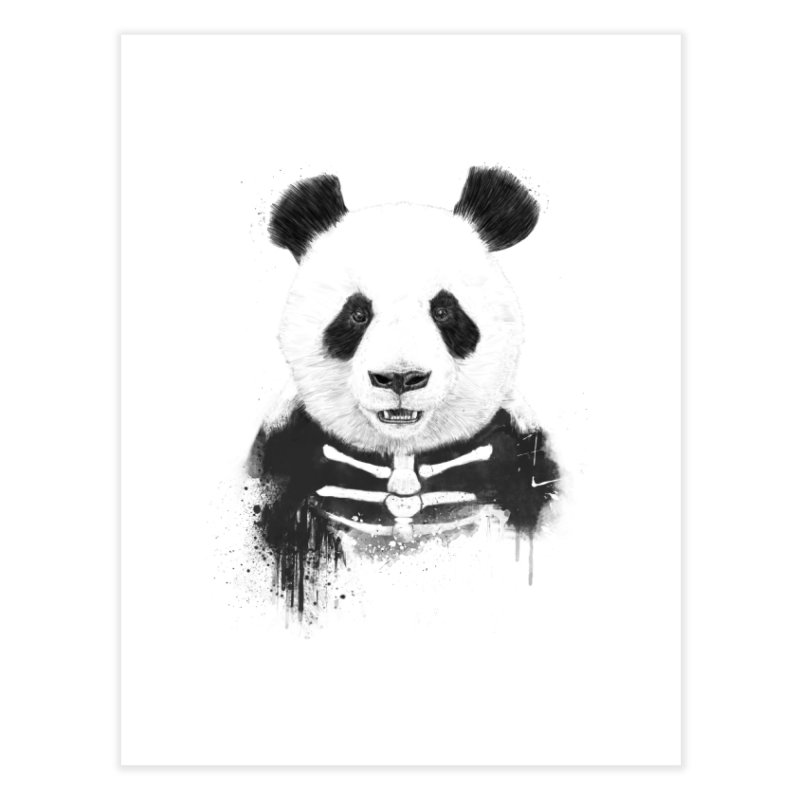 Zombie Panda Home Fine Art Print by Balazs Solti