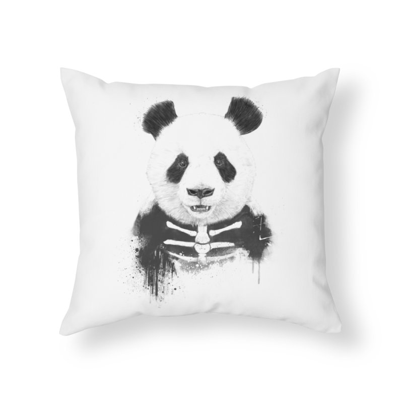 Zombie Panda Home Throw Pillow by Balazs Solti