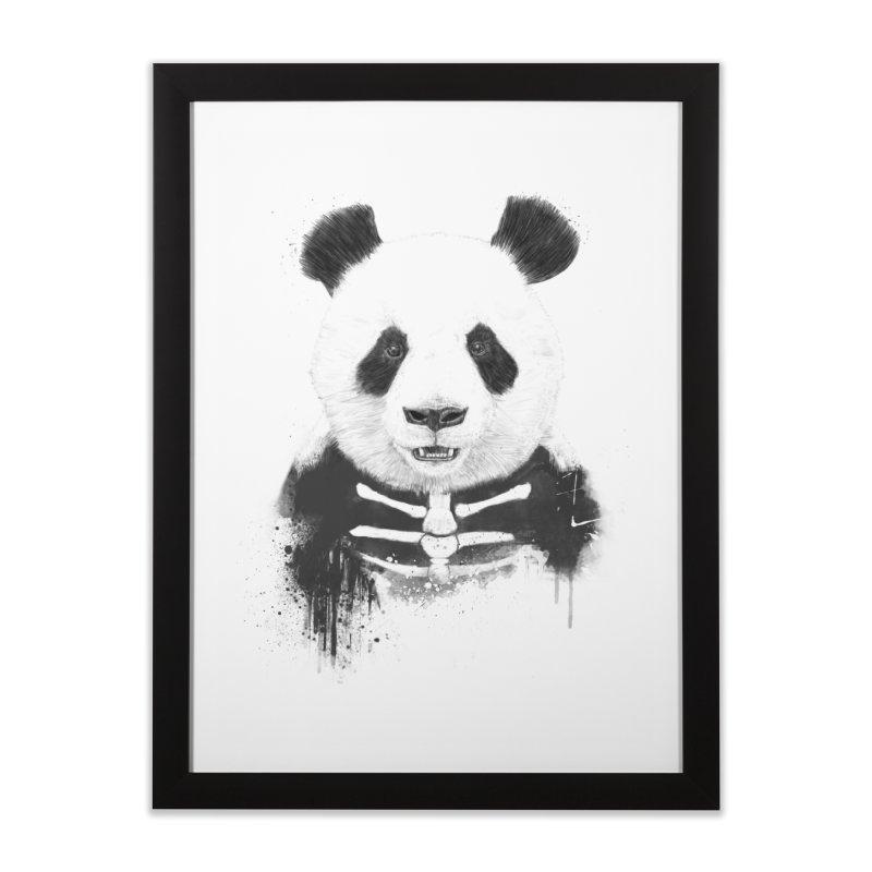Zombie Panda Home Framed Fine Art Print by Balazs Solti