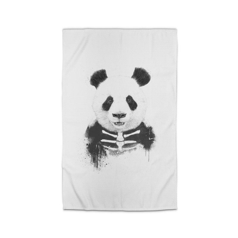 Zombie Panda Home Rug by Balazs Solti