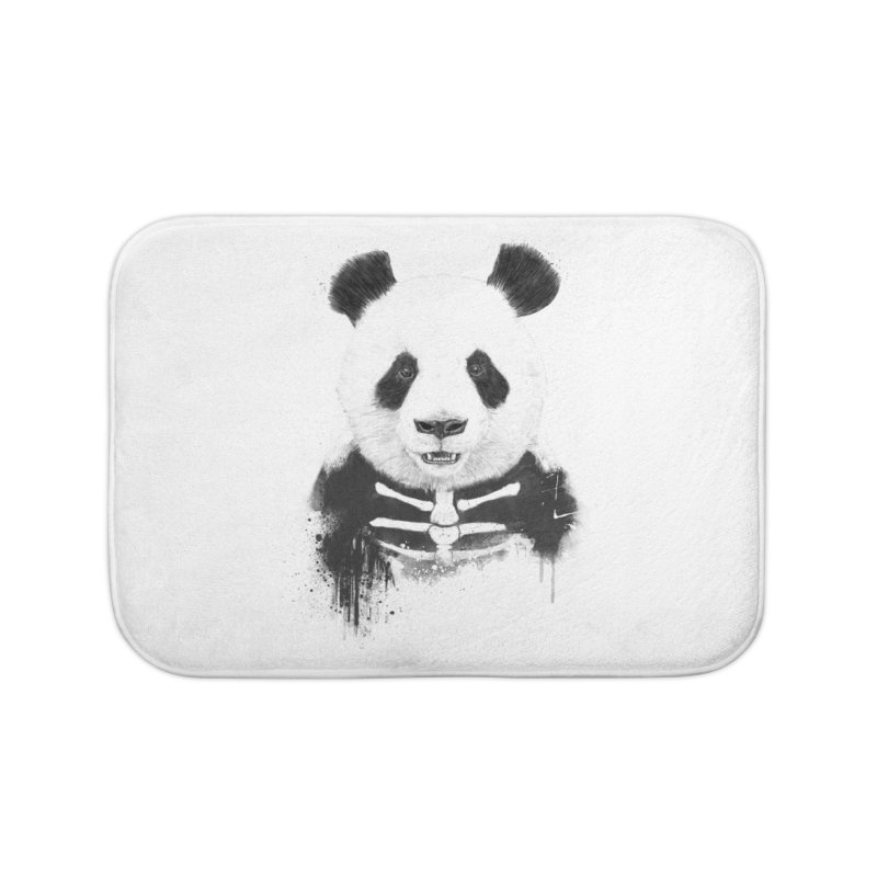 Zombie Panda Home Bath Mat by Balazs Solti
