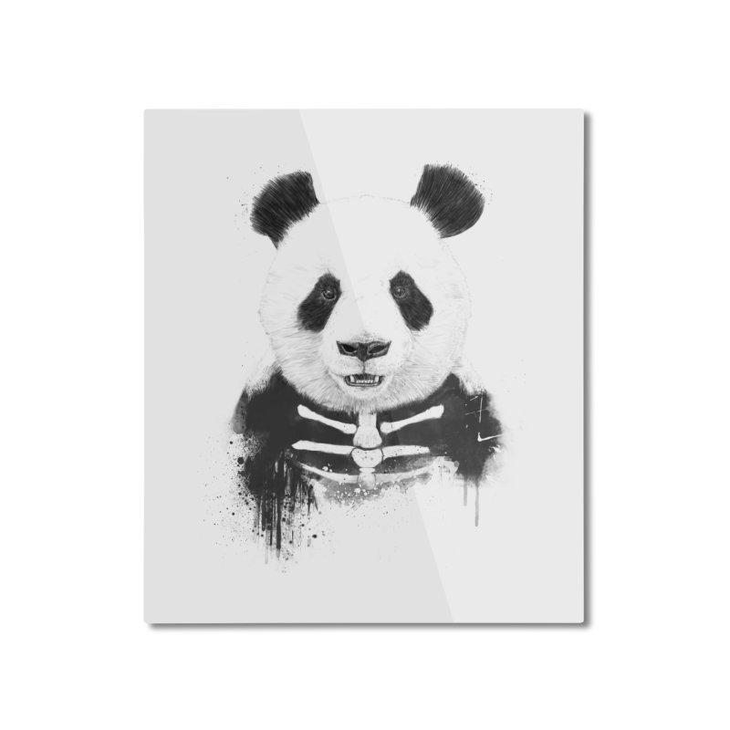 Zombie Panda Home Mounted Aluminum Print by Balazs Solti
