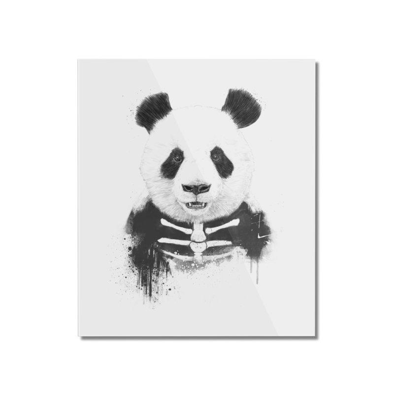 Zombie Panda Home Mounted Acrylic Print by Balazs Solti