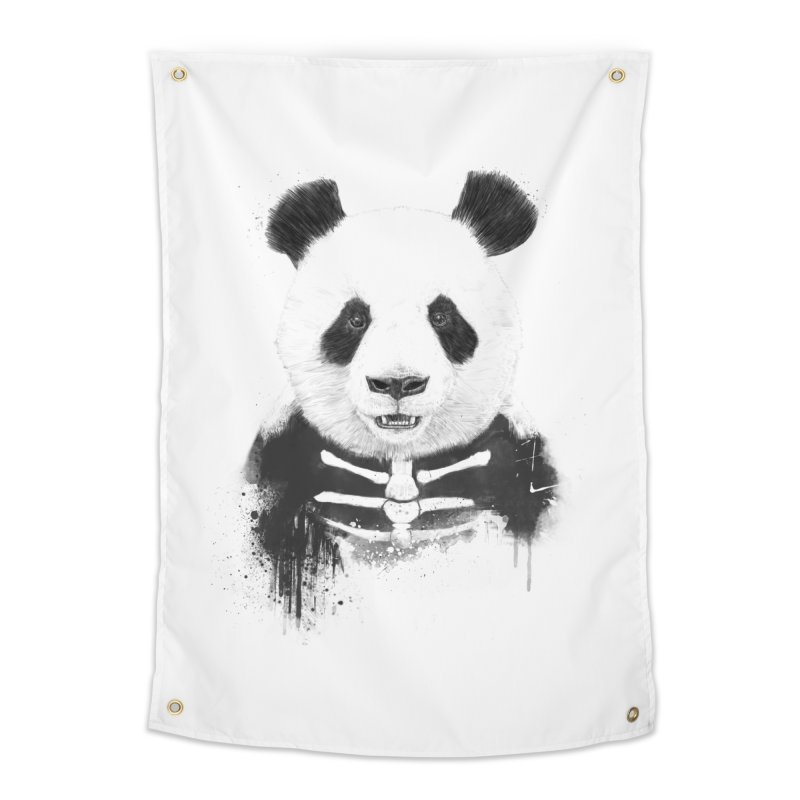 Zombie Panda Home Tapestry by Balazs Solti
