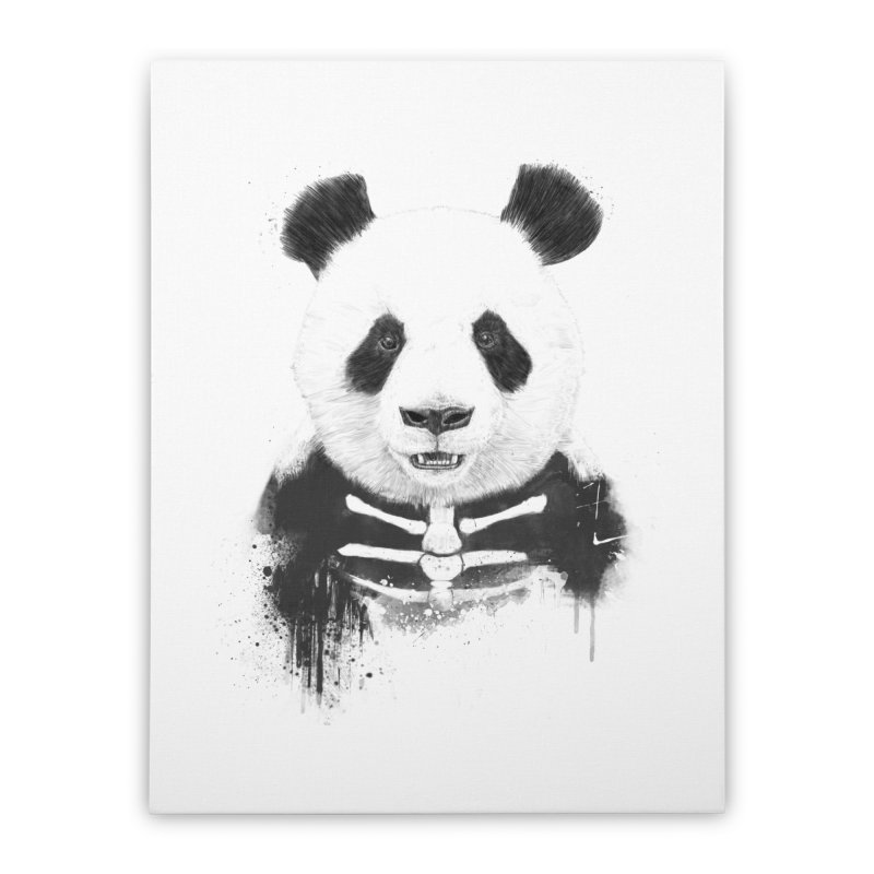 Zombie Panda Home Stretched Canvas by Balazs Solti
