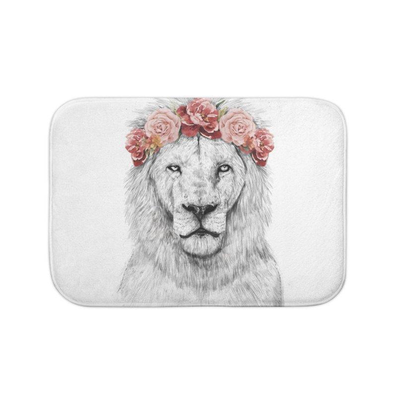 Festival lion Home Bath Mat by Balazs Solti