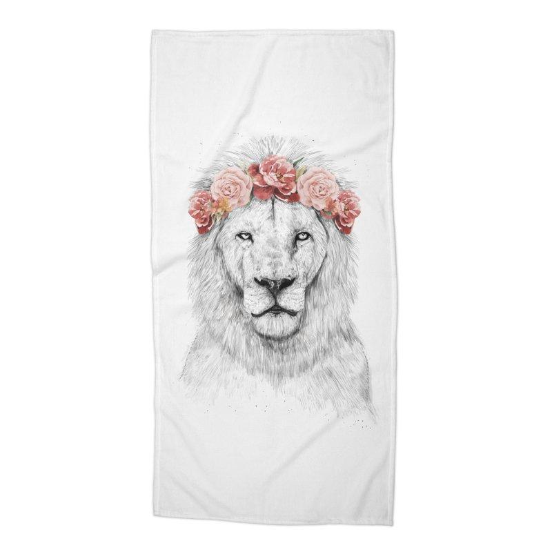 Festival lion Accessories Beach Towel by Balazs Solti
