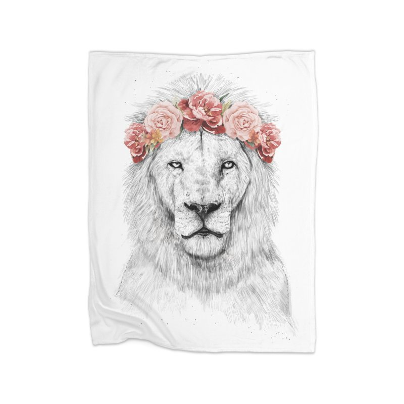 Festival lion Home Blanket by Balazs Solti