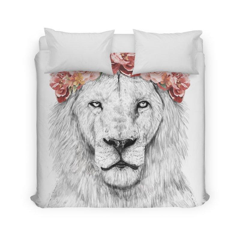 Festival lion Home Duvet by Balazs Solti