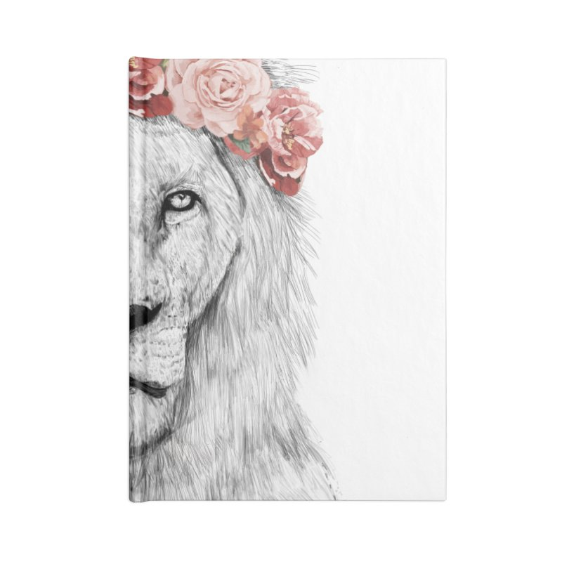 Festival lion Accessories Blank Journal Notebook by Balazs Solti