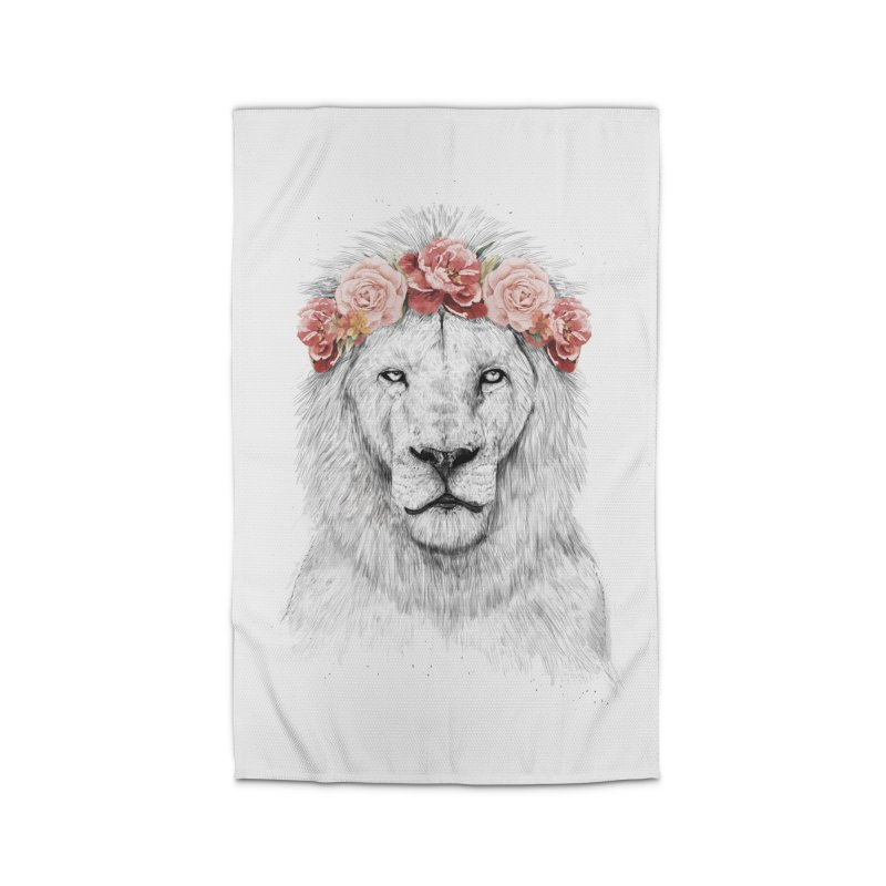 Festival lion Home Rug by Balazs Solti