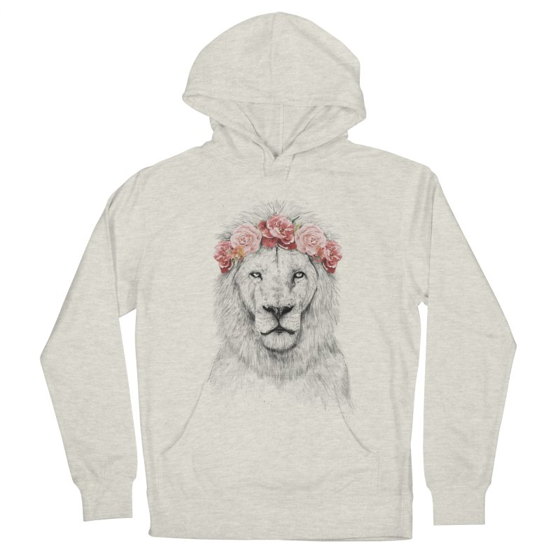 Festival lion Women's French Terry Pullover Hoody by Balazs Solti