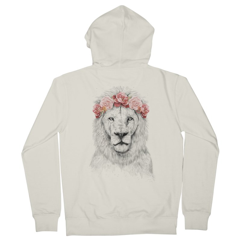 Festival lion Women's Zip-Up Hoody by Balazs Solti