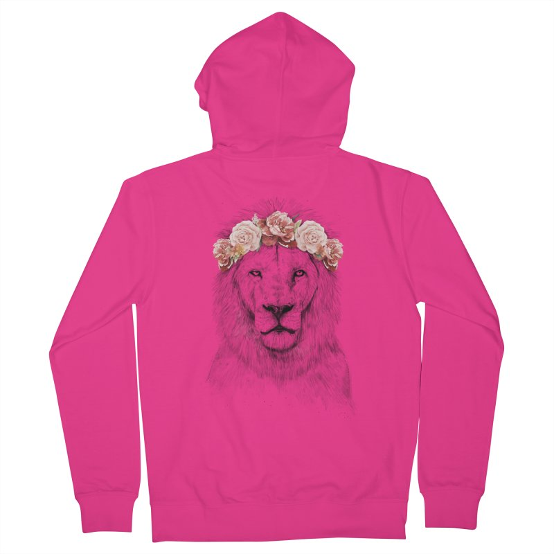 Festival lion Men's Zip-Up Hoody by Balazs Solti
