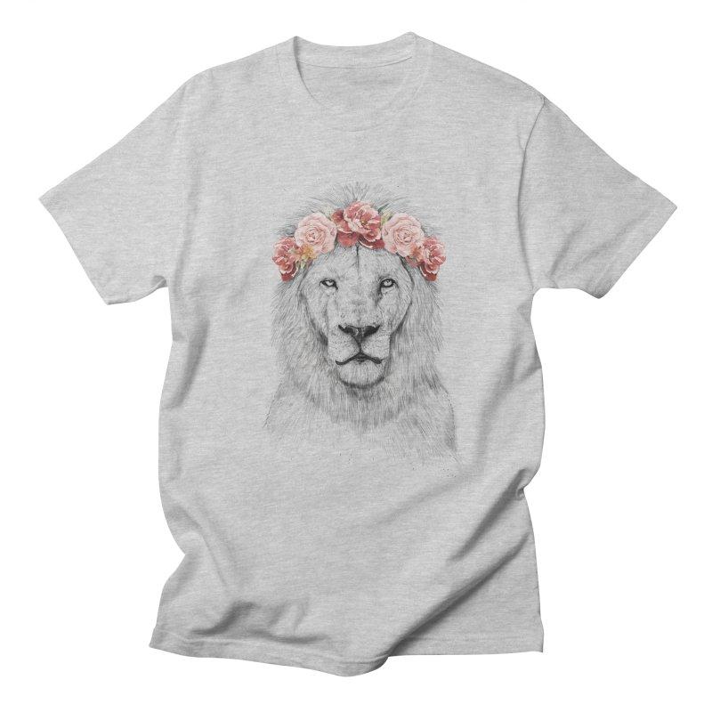 Festival lion Men's Regular T-Shirt by Balazs Solti