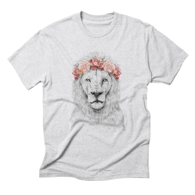 Festival lion Men's Triblend T-Shirt by Balazs Solti