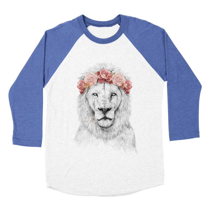 Festival lion Women's Baseball Triblend Longsleeve T-Shirt by Balazs Solti