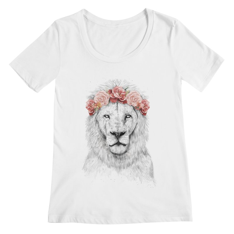Festival lion Women's Scoopneck by Balazs Solti