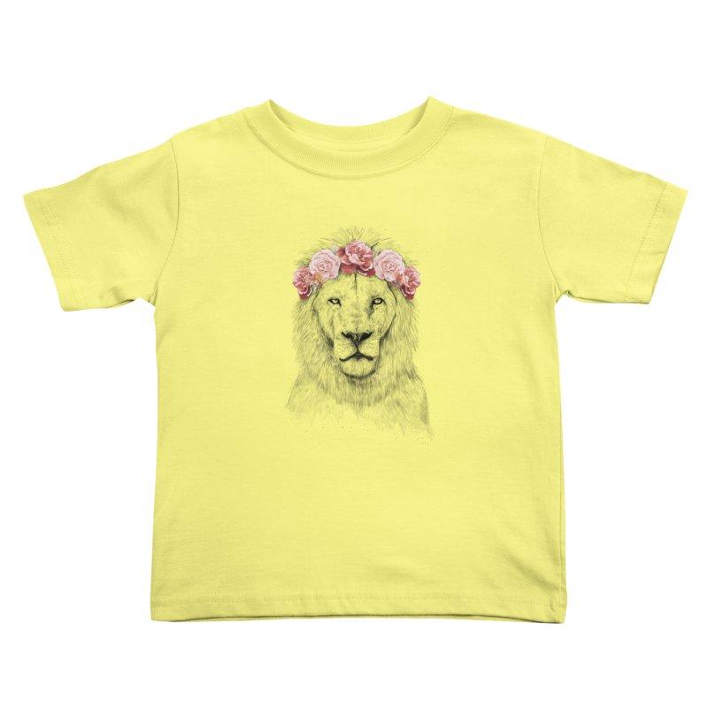 Festival lion Kids Toddler T-Shirt by Balazs Solti
