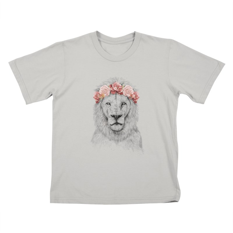 Festival lion Kids T-Shirt by Balazs Solti