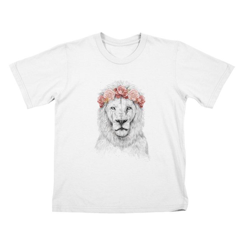 Festival lion Kids T-Shirt by Balazs Solti