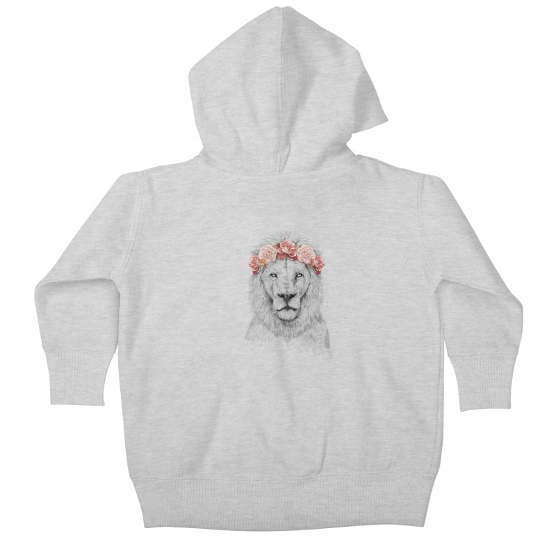 Festival lion Kids Baby Zip-Up Hoody by Balazs Solti