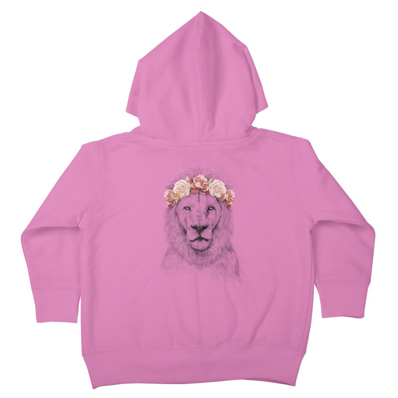 Festival lion Kids Toddler Zip-Up Hoody by Balazs Solti