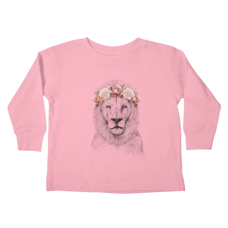 Festival lion Kids Toddler Longsleeve T-Shirt by Balazs Solti