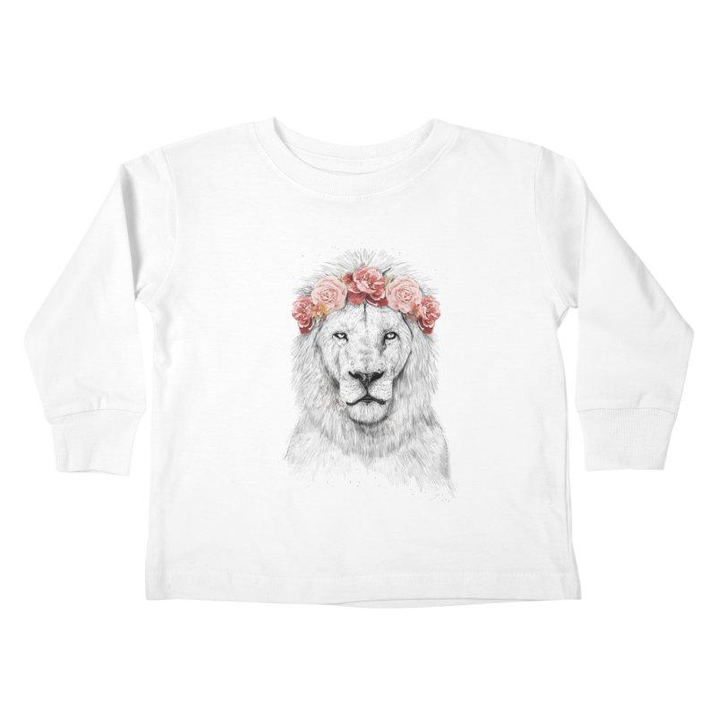 Festival lion Kids Toddler Longsleeve T-Shirt by Balazs Solti