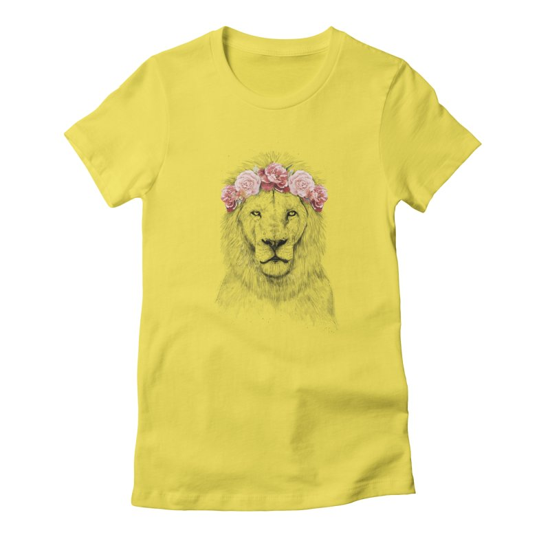 Festival lion Women's Fitted T-Shirt by Balazs Solti