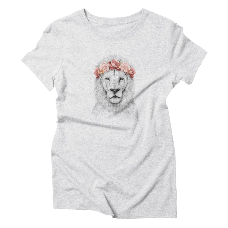 Festival lion Women's Triblend T-shirt by Balazs Solti