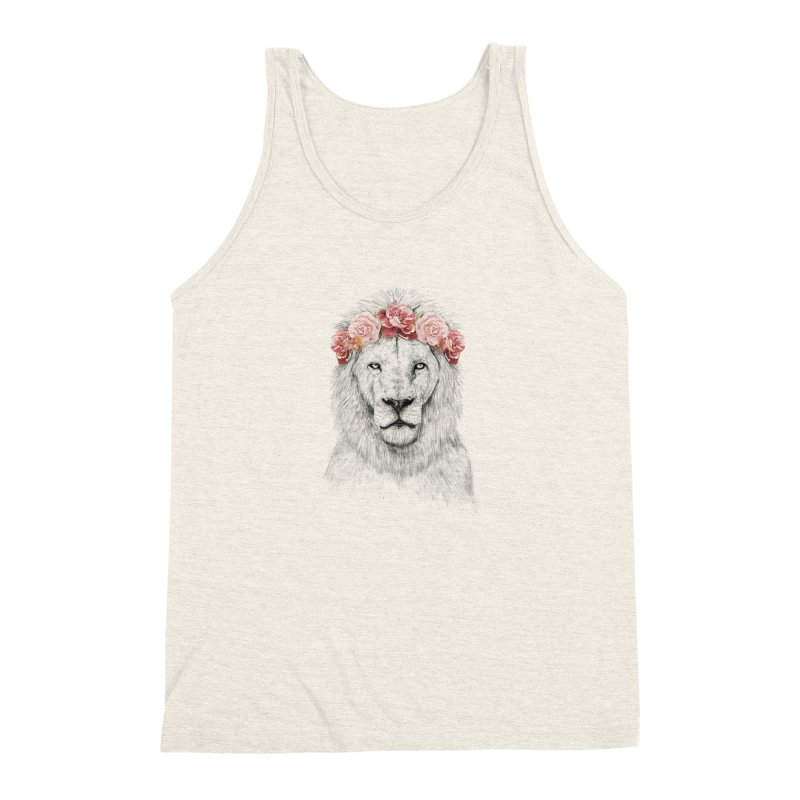 Festival lion Men's Triblend Tank by Balazs Solti