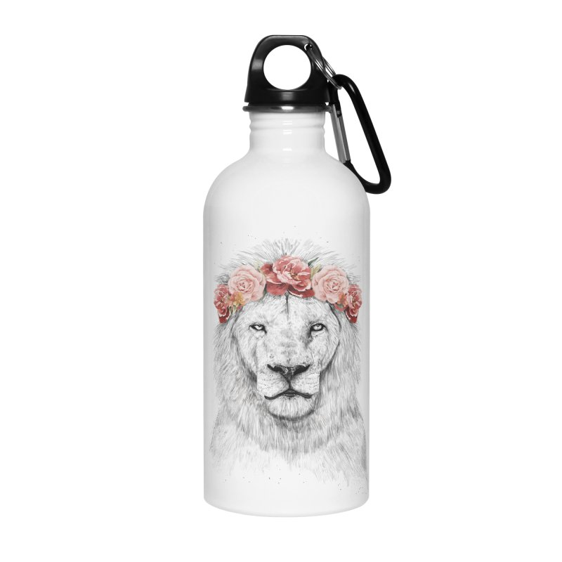 Festival lion Accessories Water Bottle by Balazs Solti