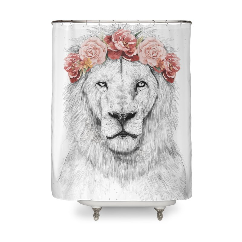 Festival lion Home Shower Curtain by Balazs Solti