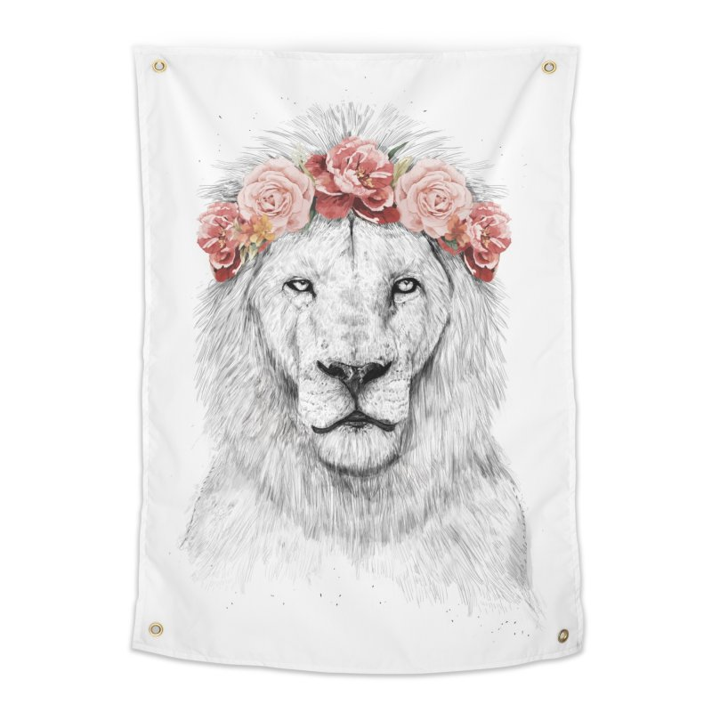 Festival lion Home Tapestry by Balazs Solti