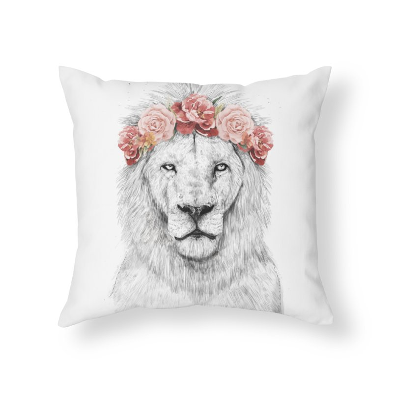 Festival lion in Throw Pillow by Balazs Solti