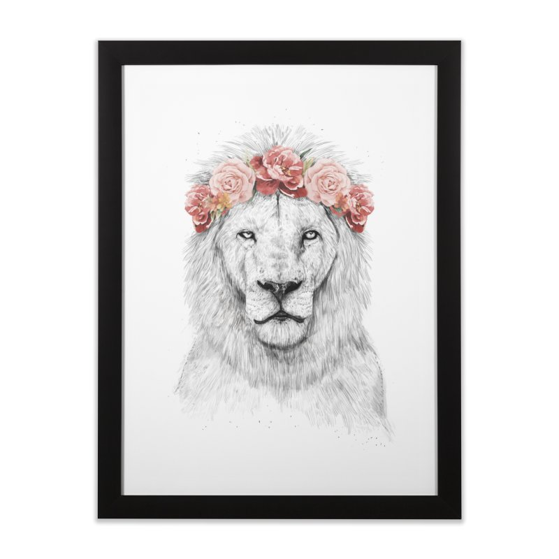 Festival lion Home Framed Fine Art Print by Balazs Solti