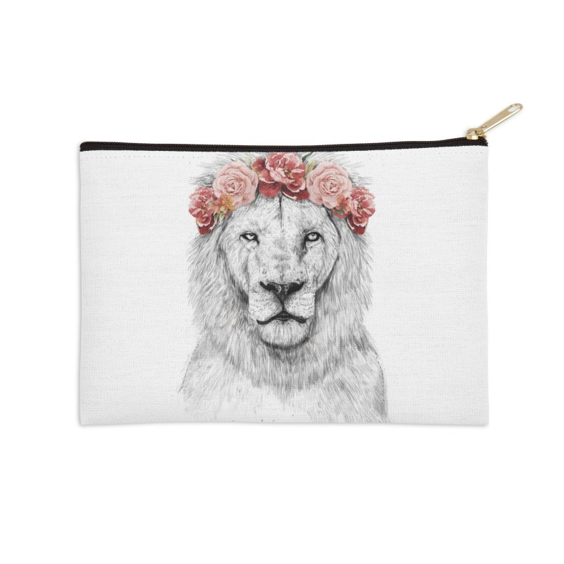Festival lion Accessories Zip Pouch by Balazs Solti